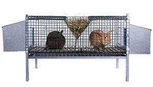 Doppelkäfig für Kaninchen / 5060